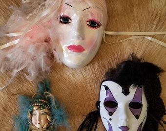 Vintage Porcelain Masks