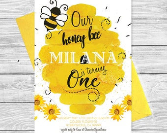 Bumble Bee Invites Etsy