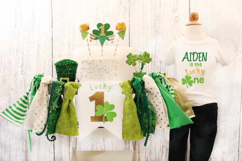 9caddaa42 Lucky One High Chair Banner & Outfit St. Patricks Day Lucky | Etsy