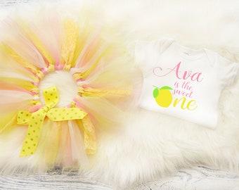 Pink Lemonade  Birthday Outfit Lemonade First Birthday Tutu 1st Birthday Lemonade First Birthday Outfit Baby Girl First Birthday