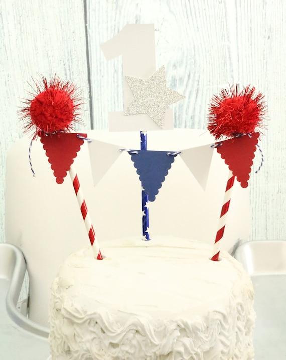 Cool 4Th Of July Birthday Cake Topper Stars And Stripes Decor Etsy Funny Birthday Cards Online Necthendildamsfinfo