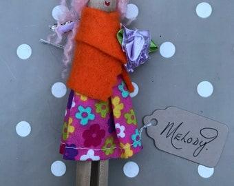 Melody - handmade peg doll