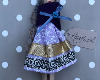 Heather - handmade peg doll