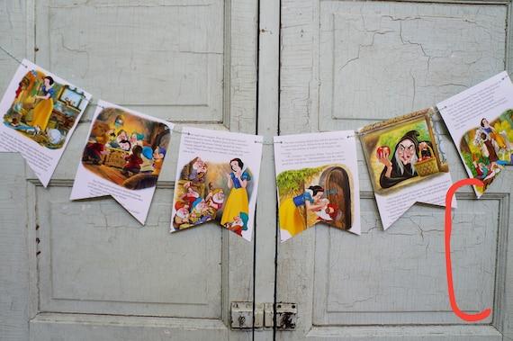 Nursery Golden Books Fairy Tale Girls Birthday Party Decor Princess Disney CINDERELLA Garland SNOW WHITE Banner Baby Shower
