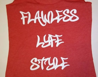 Flawless Lyfe Style Tank top Coral & White