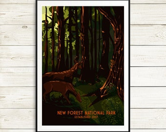 New Forest National Park Poster