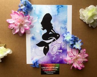 """Prints: """"Dream of the Ocean"""" Mermaid Style"""
