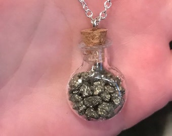 Pyrite Bottle Necklace