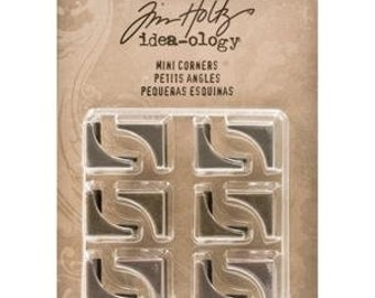 Tim Holtz Idea-ology MINI CORNERS Metal Hardware TH93131