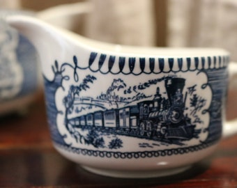 Currier and Ives Creamer, Milk Pitcher