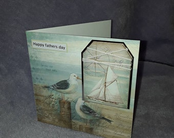 Sea birds Fathers day card