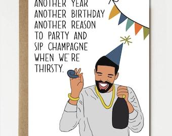 Funny Birthday Card Birthday Views Drake Card