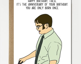 The office birthday card | Etsy