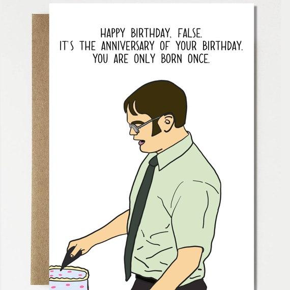 Funny Dwight Schrute Birthday Anniversary Birthday Card