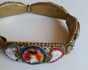 mid century micro mosaic bracelet