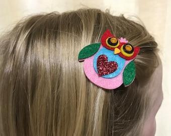 Girl's Mini Owl Clip