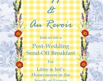 Sunday Breakfast Post-Wedding Invitation, Wedding Brunch Invitation, Send-Off Invitation