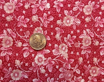 Cute 1980s vintage calico floral cotton fabric