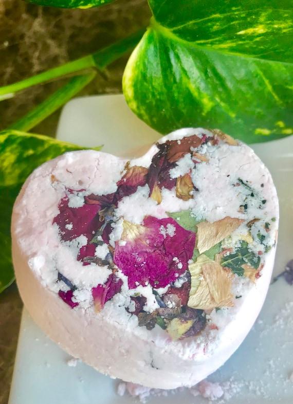 Bombe de bain rose géranium, cotillons, cadeau bio naturel, bombes de bain de luxe, cadeau de remerciement, bombe de bain Rose, cadeau aromathérapie soins auto