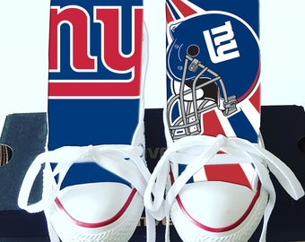 25593d4c6ea Custom New York Giants Converse - V2
