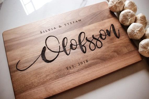 Anniversary Gift Housewarming Gift Cutting Board Custom Wedding Gift Christmas Gift Engraved Chopping Board Personalized Cutting Board