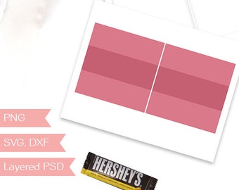 Candy Bar Wrapper Template Etsy
