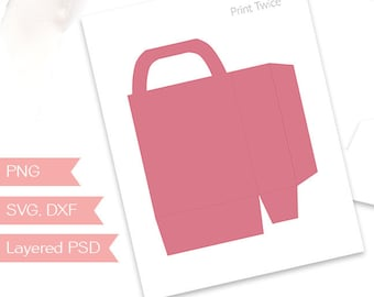 Gift bag template etsy custom gift bag 475x4 inches build your own party printable blank template design your own for commercial use psd png svg tt187 maxwellsz