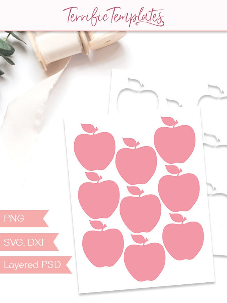 photo relating to Apple Stencil Printable identify Apple present tag template, printable collage sheet template, craft function slicing document, structure your particular, industrial employ the service of, PSD, PNG, SVG (TT90)