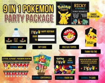 Pokemon Birthday Invitation Invite Instant Download Printable Editable Custom DIY