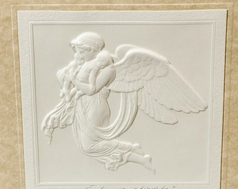 "Embossed graphic postcard ""Moment of gentleness"""