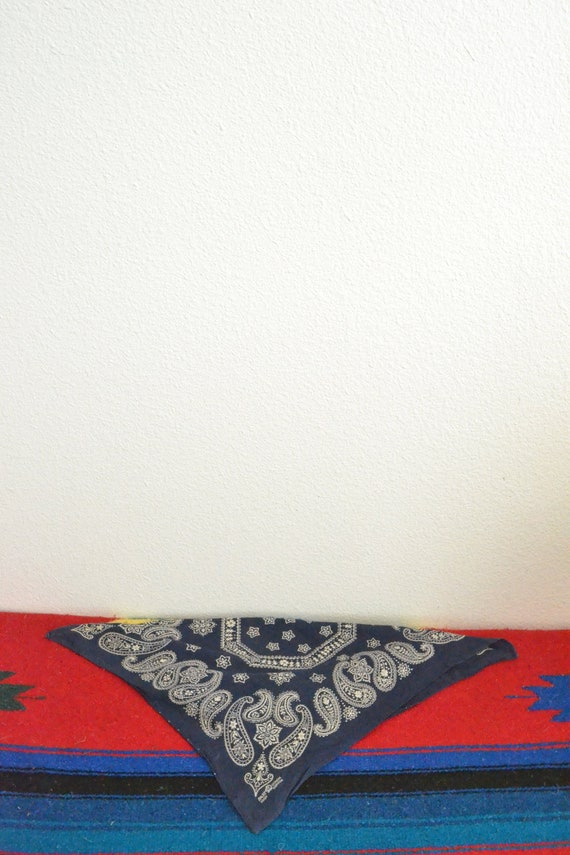 Vintage 50's Fast Color Blue Elephant Bandana (Mad