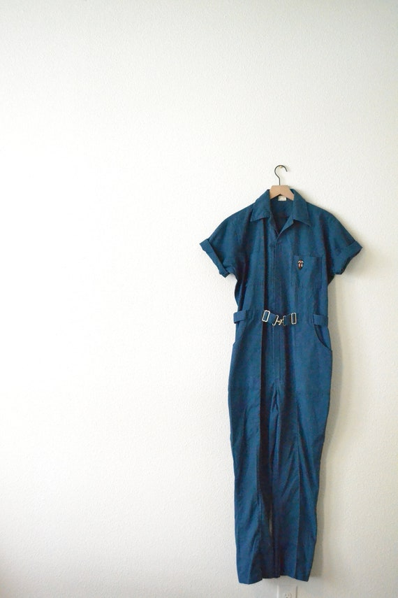 60's/70's Blue Work Coveralls (Sz M)