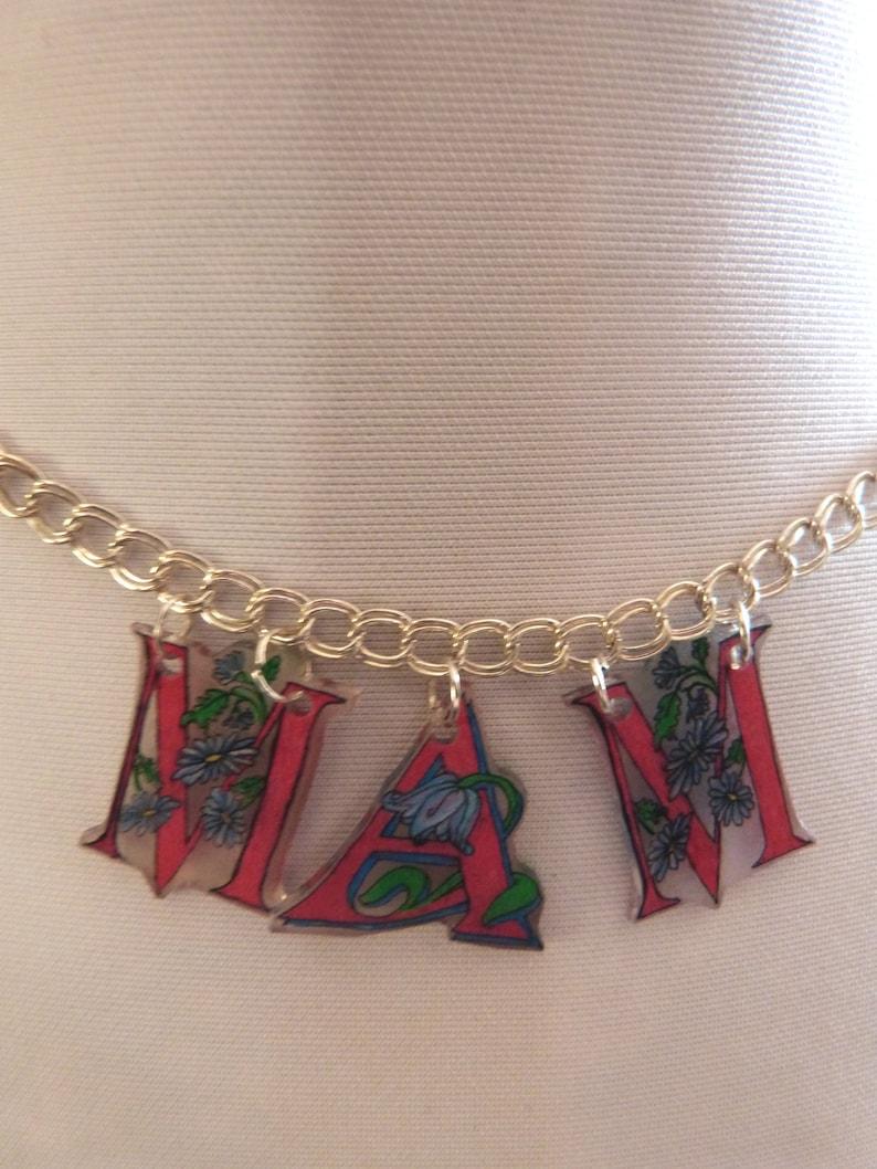 Welsh MAM Floral Letter Necklace