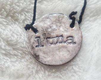 Luna Moon Handmade Clay Necklace Pendant