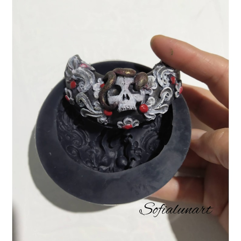 mould skull-skull mold silicon mold-gothic mold-making mold mould for resin mould making