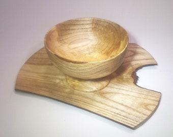 "Special ""Dawning"" - Handmade Bowl , Platter , Cornish Oak , Fathers Day , Wedding , Housewarming ,Gift,Birthday,21st"
