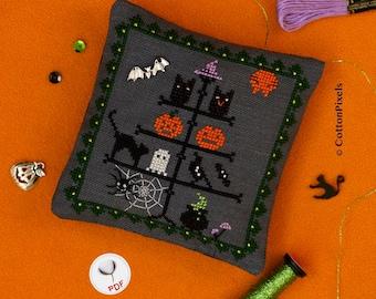 Halloween Tree Decoration Cross Stitch Pattern (PDF)