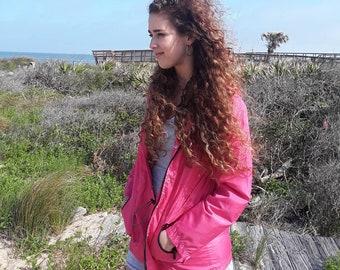 Windbreaker jacket, pink windbreaker, 90s jacket, 90s windbreaker