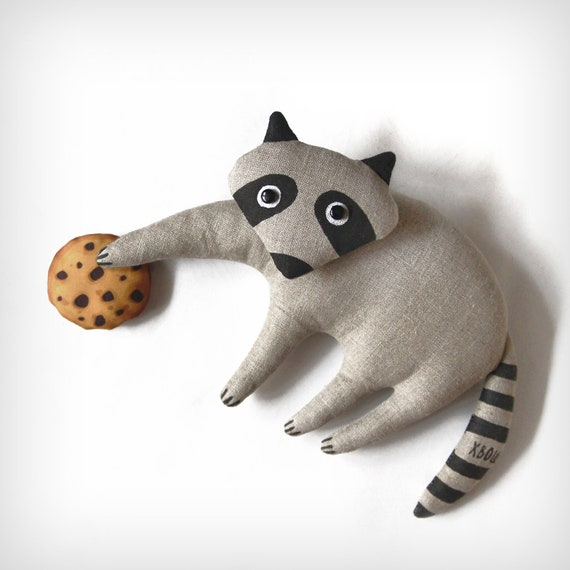 realistic fur fox lifelike wolf amp raccoon stuffed animal - 570×570