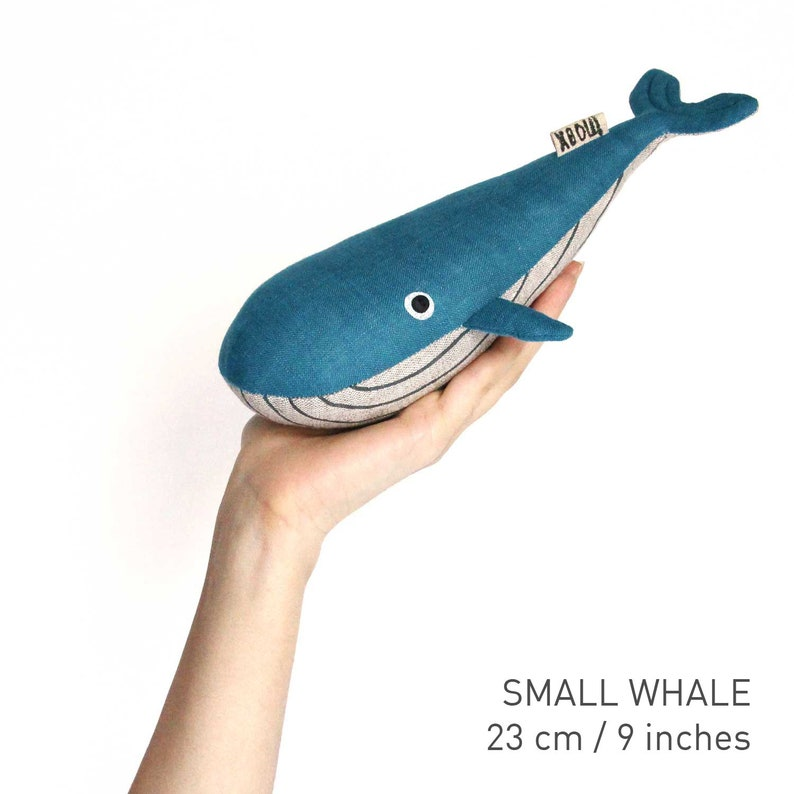 Stuffed Toy Stuffed Whale Toy Animal Toy Soft Toy Whale Whale Nursery Linen Toy. Blue Whale Ocean Nursery Nautical Nursery