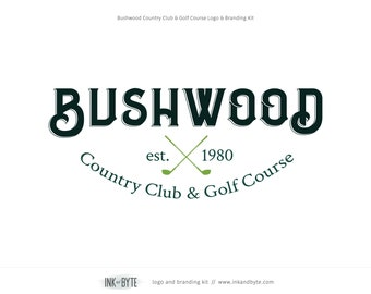 Golf business cards etsy one of a kind pre made logo branding marketing kit with printed business cards golf course driving range country club golf industry colourmoves