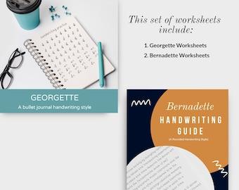 A set of Georgette and Bernadette worksheets
