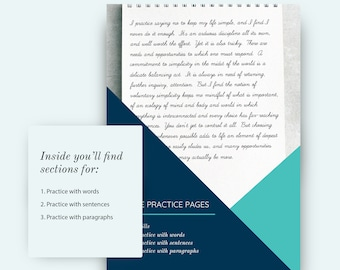Cursive  Practice Pages, Practice with WORDS, SENTENCES and PARAGRAPHS only