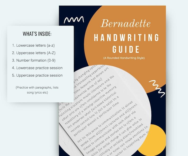 Bernadette handwriting worksheets PRINTABLE Lowercase and image 0