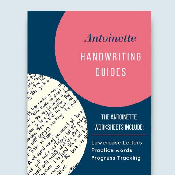 ANTOINETTE Handschrift Praxis Blätter Kleinbuchstaben und | Etsy