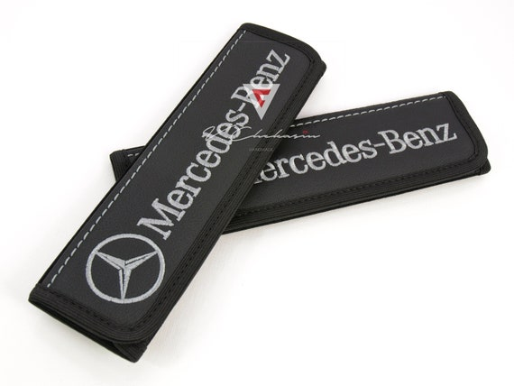 2pcs Corvette Black Embroidered Logo Seat Belt Cover Shoulder Pad Cushion