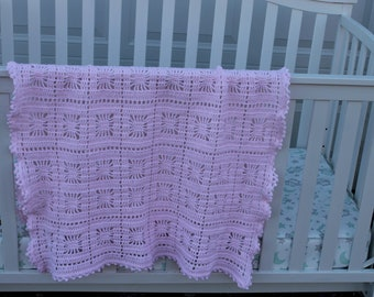 Baby Blanket afghan crocheted