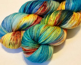 """Hand dyed yarn """"Tropical Parrot"""""""