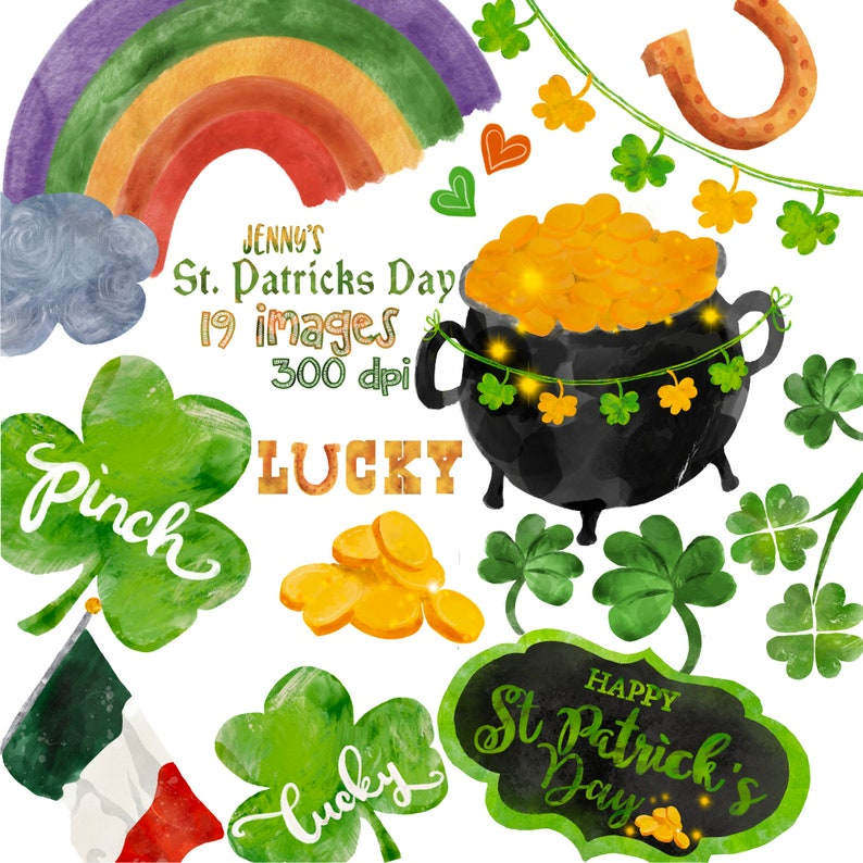 graphic regarding Free Printable Clipart for St Patrick's Day named St. Patricks Working day, Watercolor Saint Patricks Working day Clip artwork, Shamrock Clipart, clear, electronic png, printable