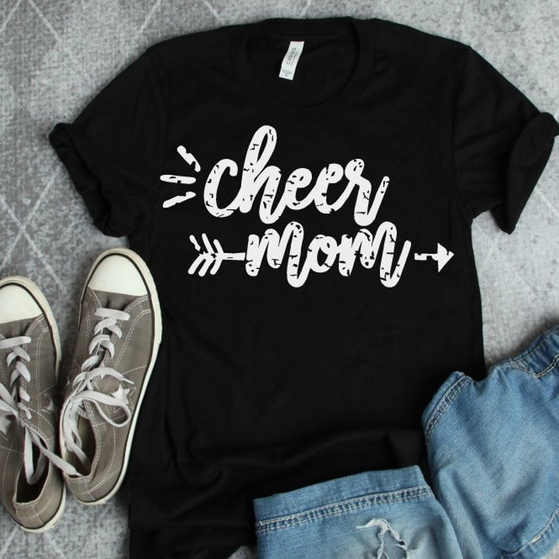 image regarding Free Printable Cheerleading Clipart identified as Cheer Mother SVG Cheerleading Mother Electronic Obtain Grunge Printable Tshirt DXF Slice document Iron upon Shift Clipart Silhouette Cricut
